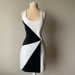 Bar III Black and White Mini Dress